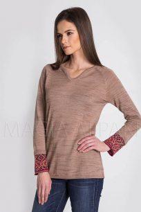 sweter-damski-welniany-z-alpaki-brazowy
