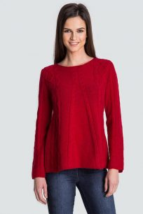 sweter-damski-welniany-z-alpaki-czerwony