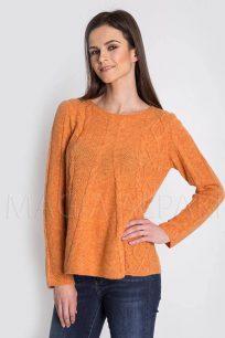 sweter-damski-welniany-z-alpaki-pomaranczowy